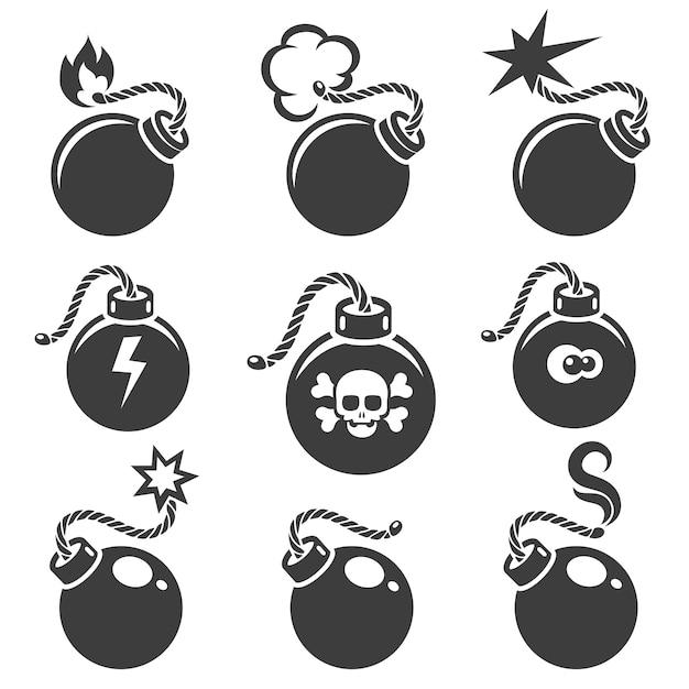 Bomborden of bomsymbolen Premium Vector