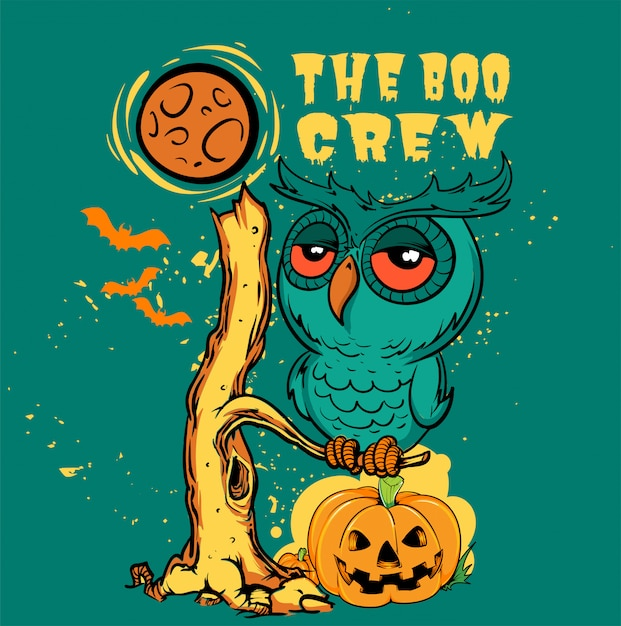 Boo-crew Premium Vector