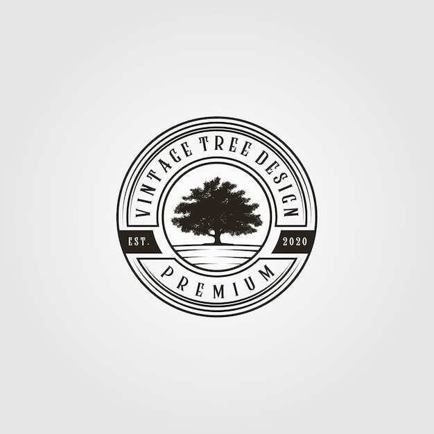 Boom logo vintage in embleem afbeelding Premium Vector