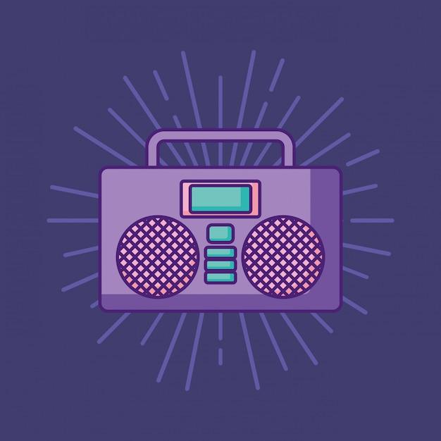 Boombox-stereopictogram Premium Vector