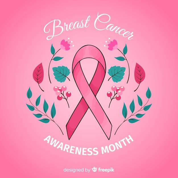 Borst kanker bewustzijn gebeurtenis hand getrokken Gratis Vector
