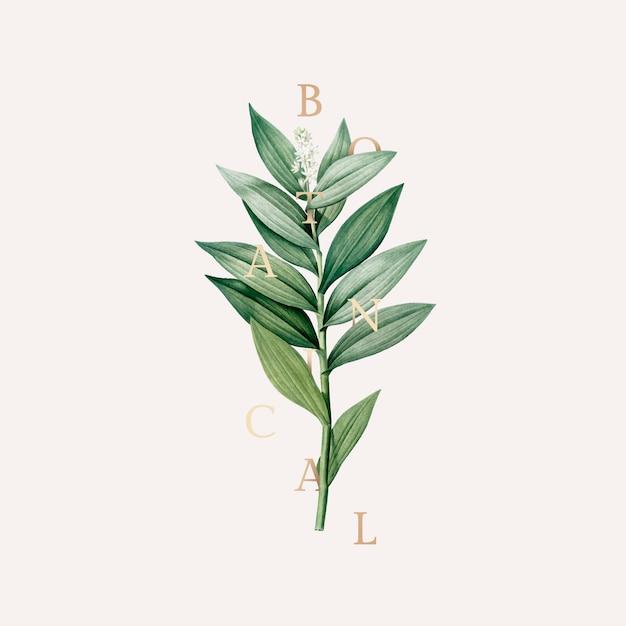Botanisch behang Gratis Vector