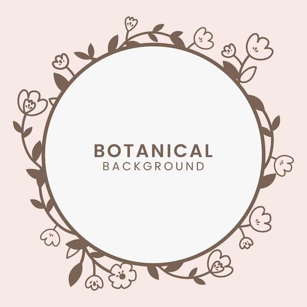 Botanische bloemenillustratie Gratis Vector