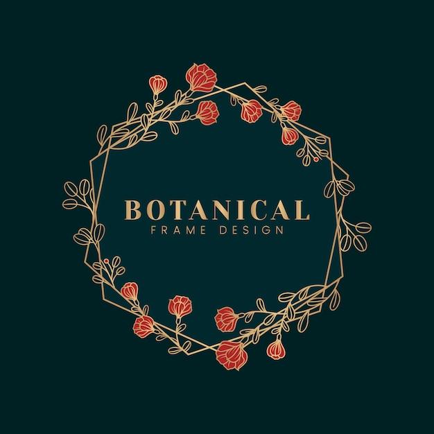 Botanische bloemenmodelillustratie Gratis Vector