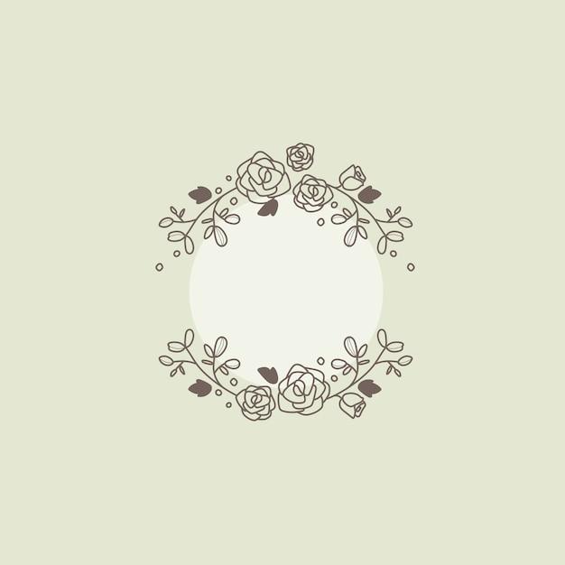 Botanische frame ontwerpelement vector Gratis Vector