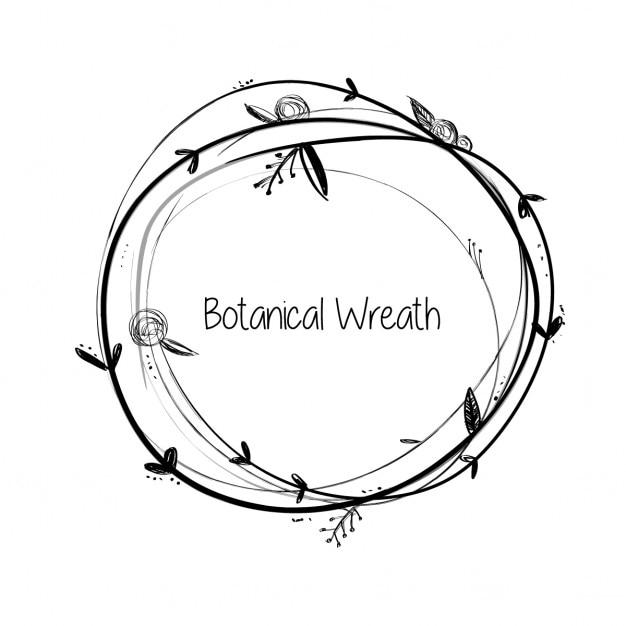Botanische wreath Gratis Vector