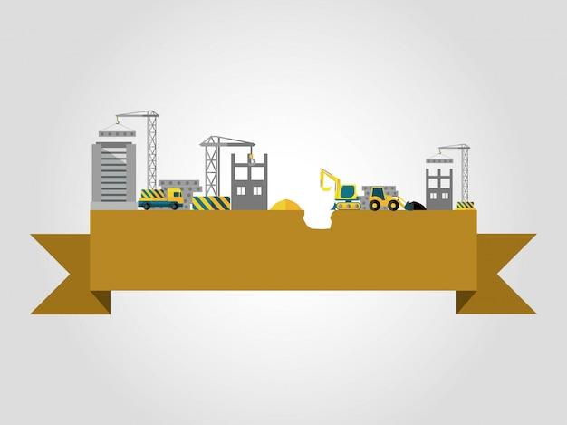 Bouw bouwconcept Gratis Vector