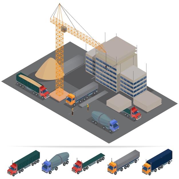 Bouw bouwindustrie Premium Vector