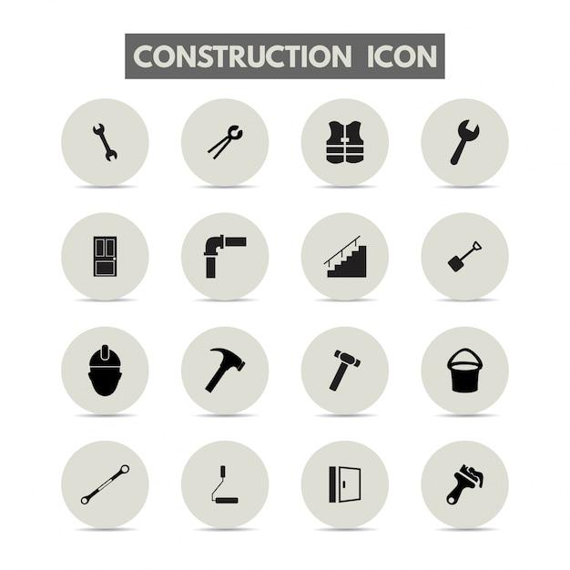 Bouw pictogrammen Gratis Vector