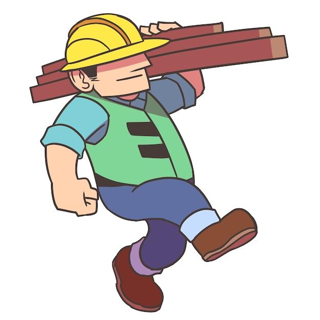 Cartoon bouwvakker — Stockvector © ronleishman …
