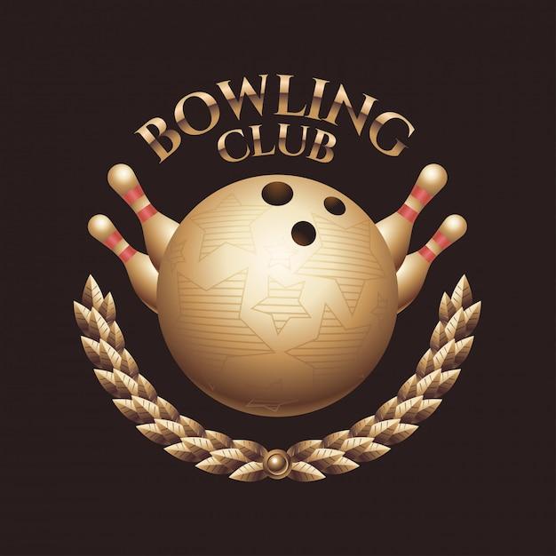 Bowling teken Premium Vector