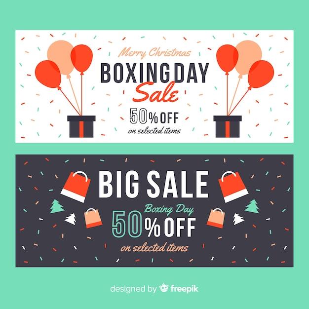 Boxing day verkoop banners Gratis Vector