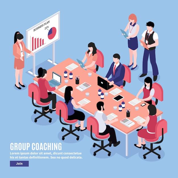 Brainstorm conferentie illustratie Gratis Vector