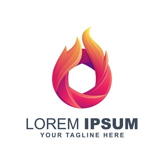 Brand vlam lens logo Premium Vector