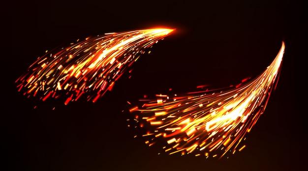 Brand vonken van metaallassen, ijzersnijden Gratis Vector