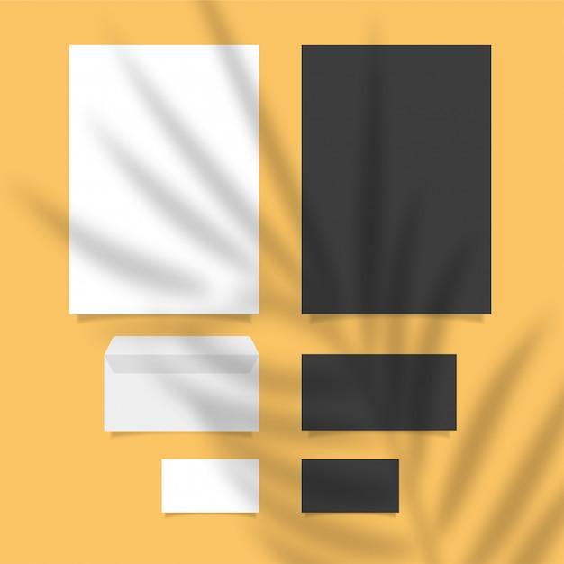 Brandingsjabloon voor stationer schone en moderne stijl Premium Vector
