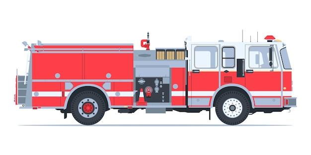 Brandweerwagen ontwerp Premium Vector