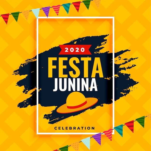 Brazil festa junina 2020 viering achtergronddecoratieontwerp Gratis Vector