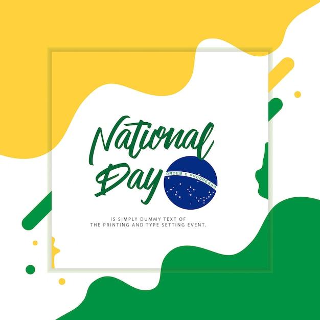 Braziliaanse nationale dag illustratie Premium Vector