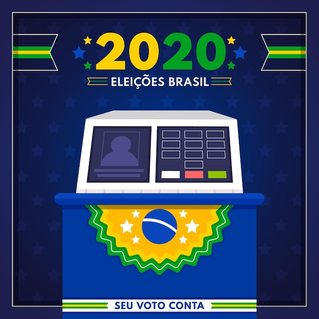Brazilië stemmen verkiezingen illustratie Premium Vector