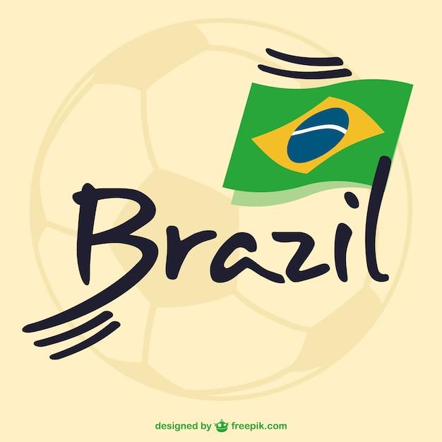 brazili235 voetbal vrije vector graphics vector gratis