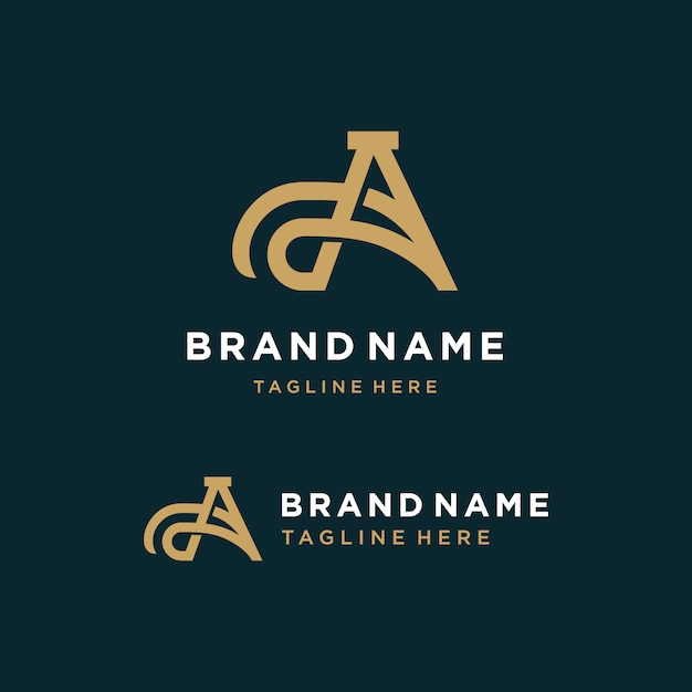 Brief een logo Premium Vector