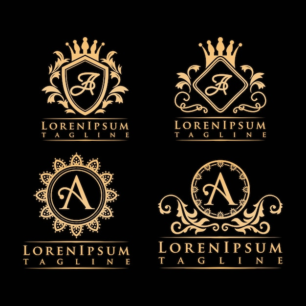 Brief een luxe logo Premium Vector