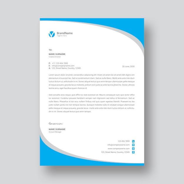 Briefhoofd sjabloonontwerp Premium Vector