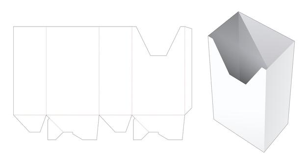 Briefpapier kartonnen doos gestanst sjabloon Premium Vector