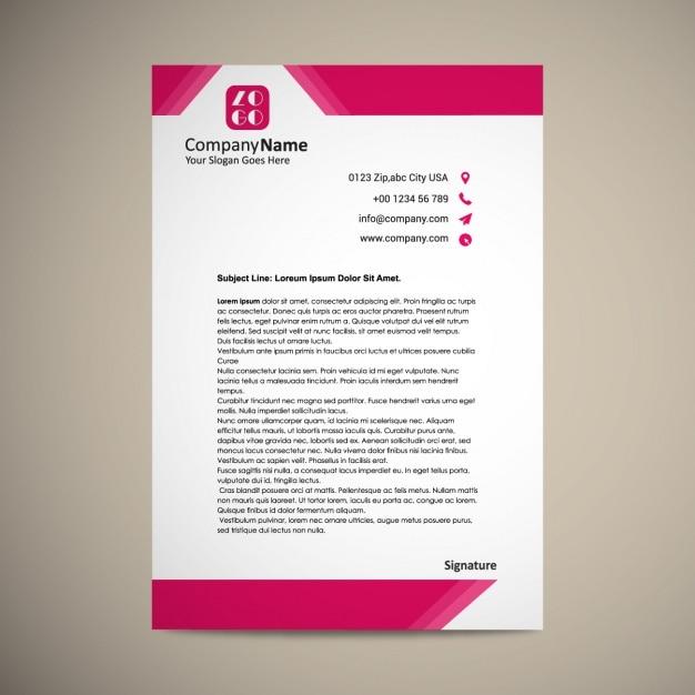 Briefpapier ontwerp Gratis Vector