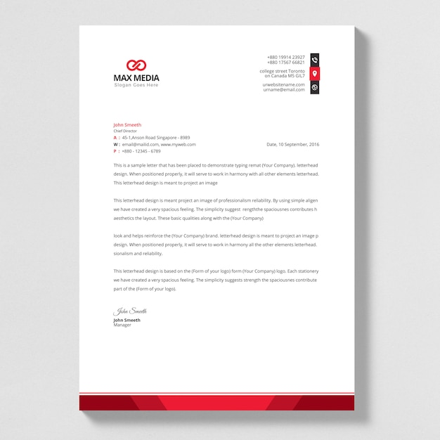 Briefpapier sjabloon Premium Vector