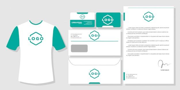 Briefpapier visitekaartje branding ontwerp sjabloon vector Premium Vector