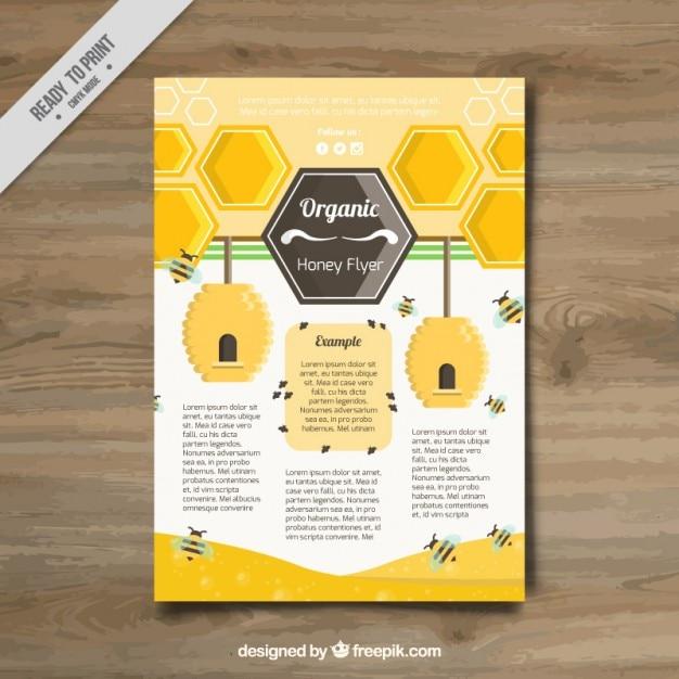 Briefpapier voor honing Gratis Vector