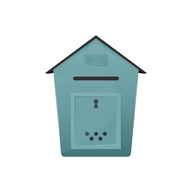 Brievenbus met gat voor het bezorgen van brieven en pakjes bij u thuis Premium Vector
