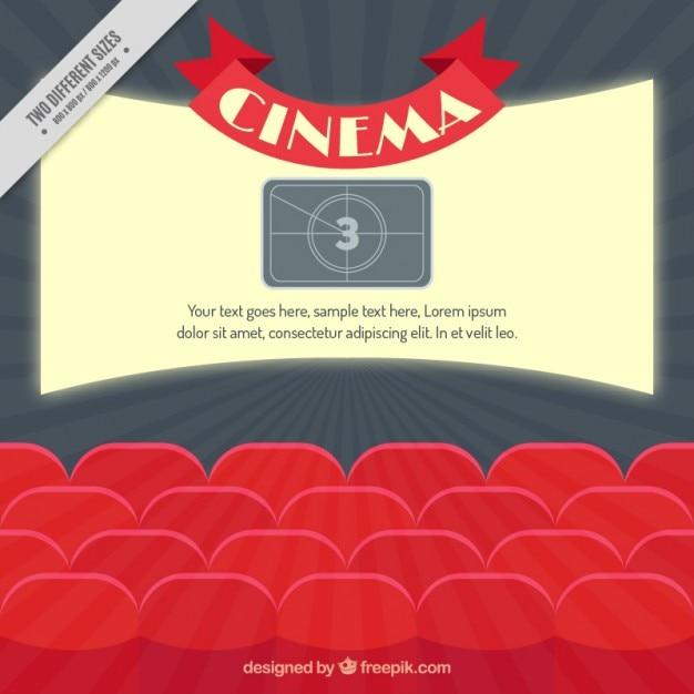 Gratis 2 Fauteuils.Bright Bioscoopscherm Met Rode Fauteuils Vector Gratis Download