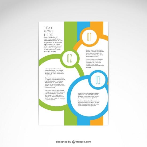Brochure abstract ontwerp Gratis Vector
