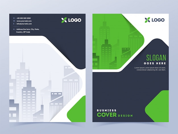 Brochure cover lay-out Premium Vector