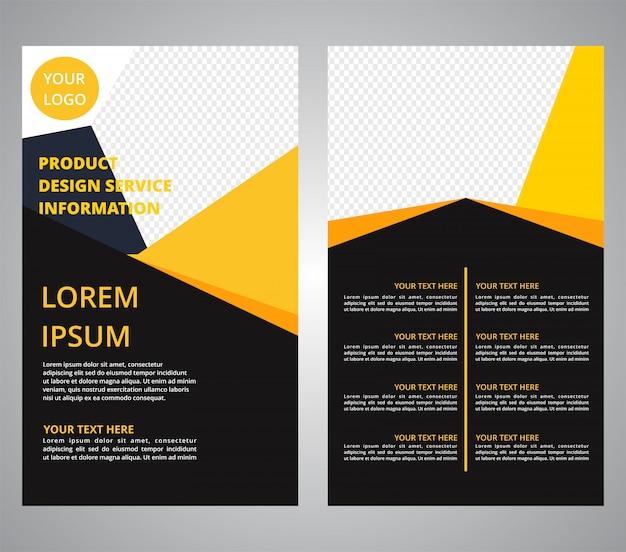 Brochure flyer zakelijke ontwerpen Premium Vector