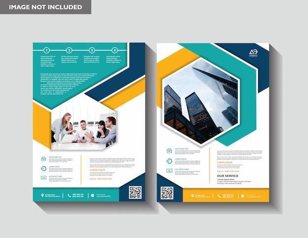 Brochure jaarverslag tijdschriftaffiche bedrijfspresentatie Premium Vector