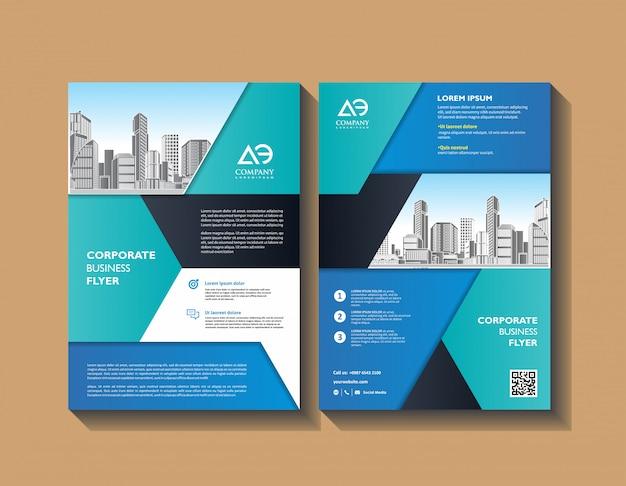 Brochure lay-out of flyer sjabloon poster tijdschrift jaarverslag verslag boek Premium Vector