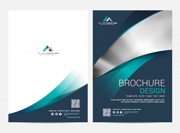 Brochure lay-out sjabloon, cover ontwerp Premium Vector