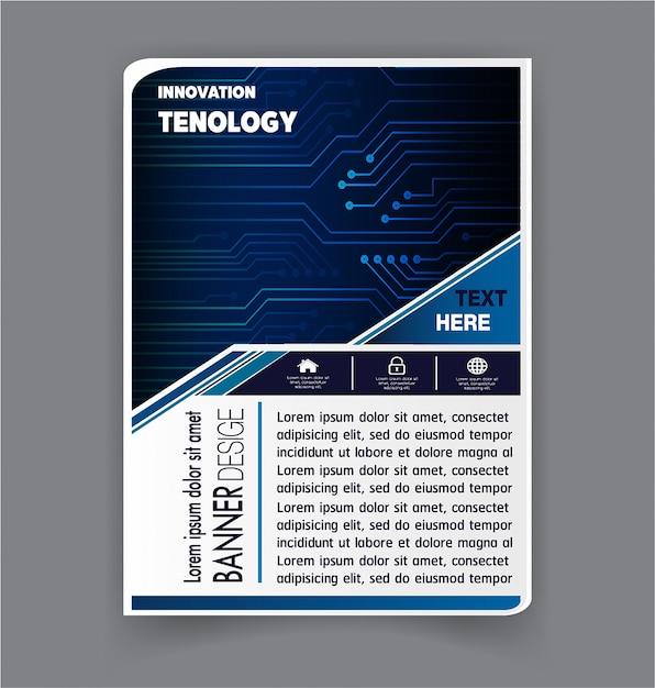 Brochure ontwerpsjabloon vector Premium Vector