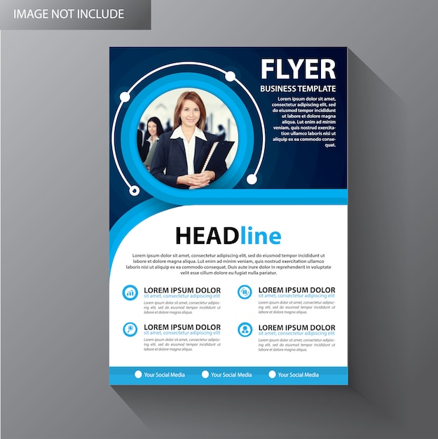 Brochure sjabloon lay-out Premium Vector