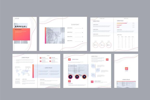 Brochure sjabloon lay-outpakket Gratis Vector