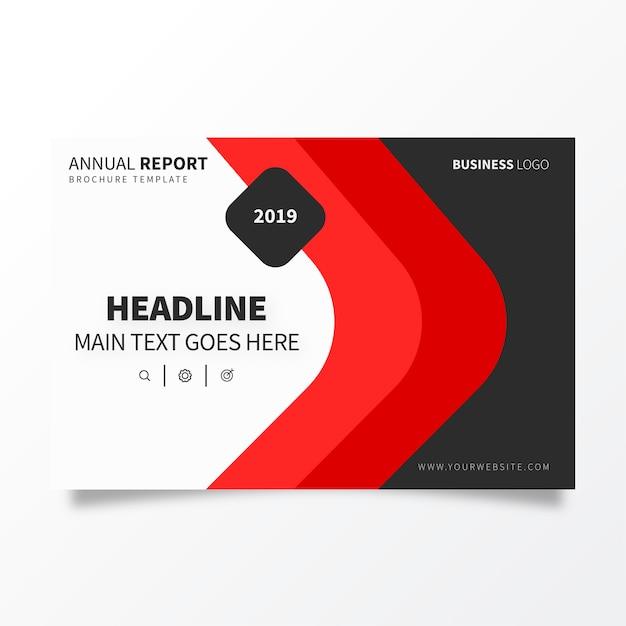 Brochure sjabloon voor jaarverslag Gratis Vector