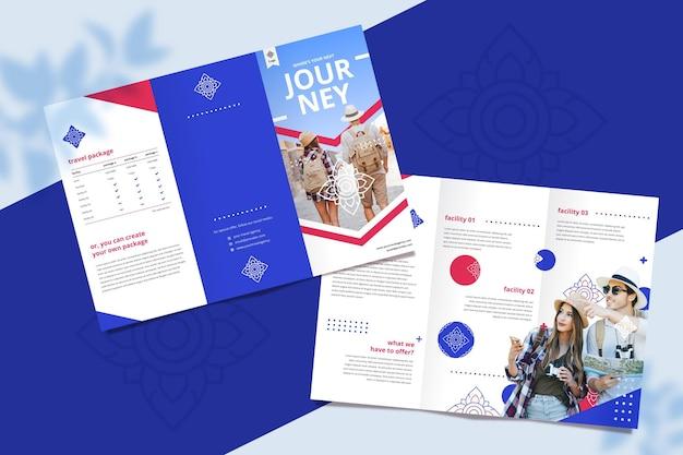 Brochure sjabloon voor reisbureau Gratis Vector