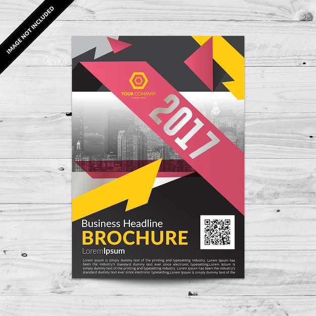 Brochure template ontwerp Gratis Vector