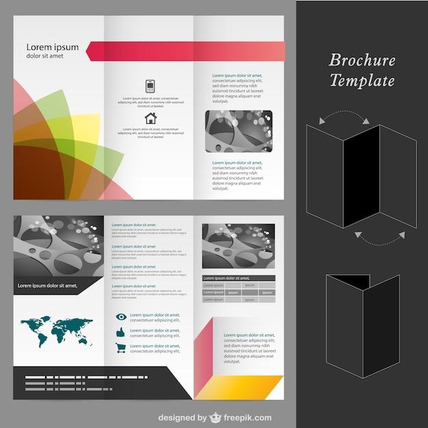 Brochure vector mock-up template Gratis Vector