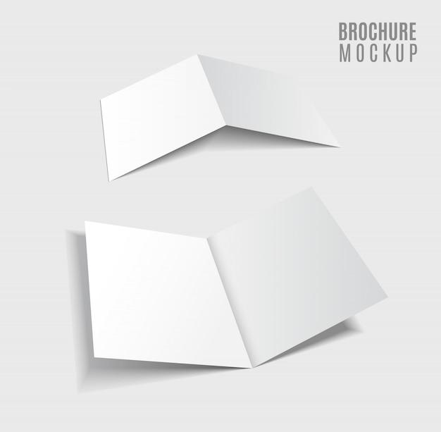 Brochureontwerp geïsoleerd op grijs Premium Vector