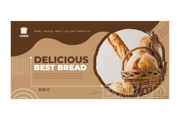 Brood bestemmingspagina concept Gratis Vector